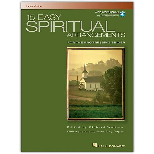 Hal Leonard 15 Easy Spiritual Arrangements for Low Voice Book/CD