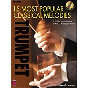 Cherry Lane 15 Most Popular Classical Melodies for Trumpet Book/CD