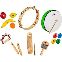 Nino 15-Piece Mixed Small Percussion Set with Tambourine