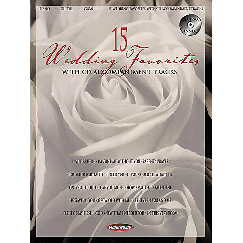Word Music 15 Wedding Favorites Piano, Vocal, Guitar Songbook-thumbnail