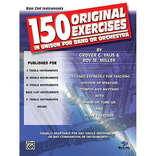 Alfred 150 Original Exercises in Unison for Band or Orchestra Bass Clef Instruments-thumbnail