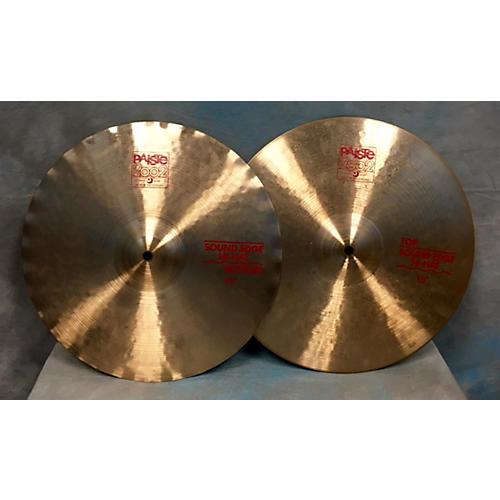 Paiste 15in 2002 Medium Hi Hat Pair Cymbal-thumbnail