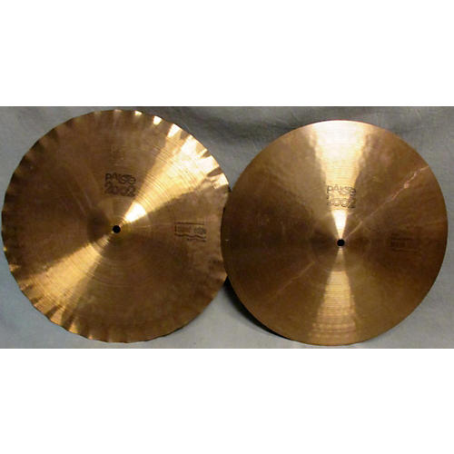 Paiste 15in 2002 Sound Edge Black Label Hi-Hat Pair Cymbal-thumbnail