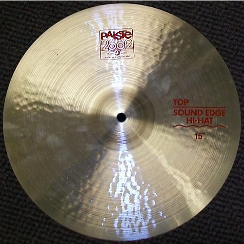 Paiste 15in 2002 Sound Edge Hi Hat Top Cymbal