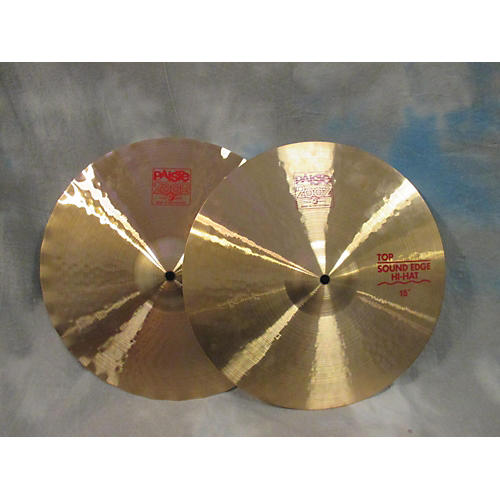 Paiste 15in 2002 Sound Edge Hi Hats Cymbal