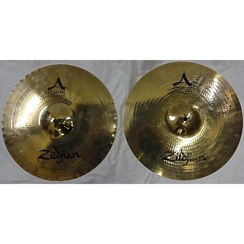 Zildjian 15in A Custom Mastersound Hi Hat Pair Cymbal-thumbnail