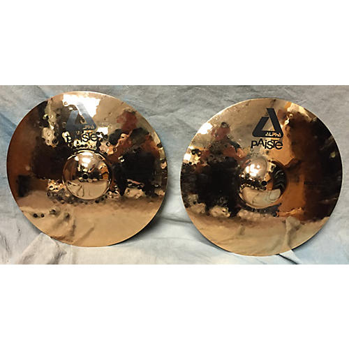 Paiste 15in Alpha Rock Hi Hat Pair Brilliant Cymbal
