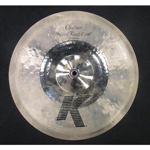 Zildjian 15in K CUSTOM HYBRID TRASH CRASH Cymbal