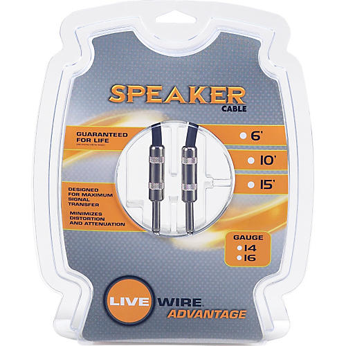 Livewire 16-Gauge Speaker Cable  15 ft.