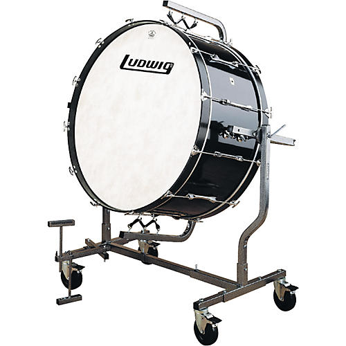 Ludwig 16X36 CONCERT BASS DRUM BLACK WITH LE788 STAND
