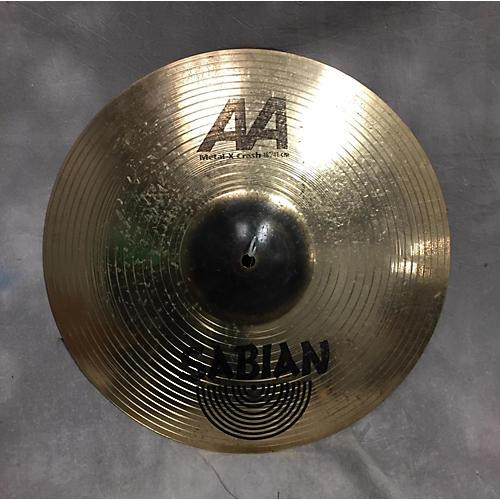 Sabian 16in AA Metal X Crash Brilliant Cymbal