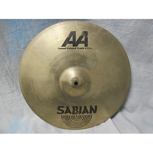 Sabian 16in AA Sound Control Crash Brilliant Cymbal-thumbnail