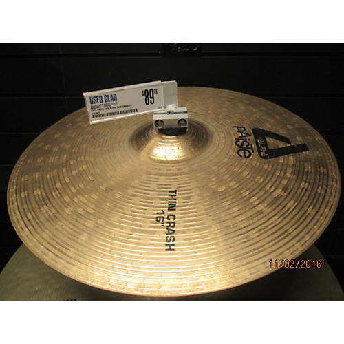 Paiste 16in Alpha Thin Crash Cymbal  36