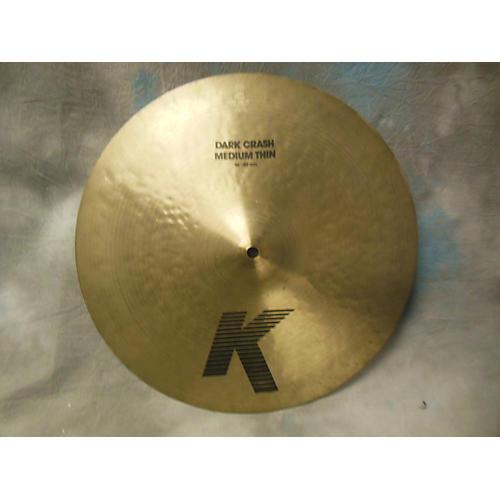 Zildjian 16in K Medium Dark Thin Crash Cymbal-thumbnail
