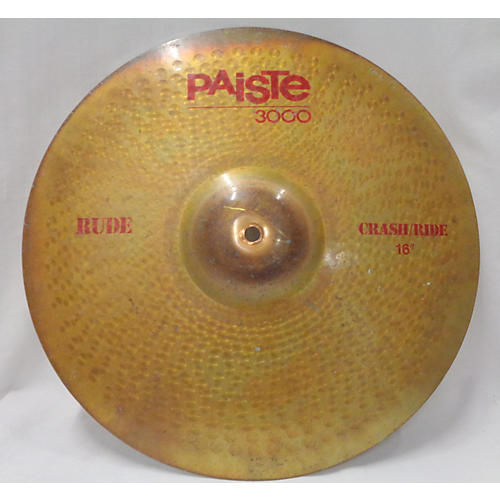 Paiste 16in Rude Classic Crash Ride Cymbal
