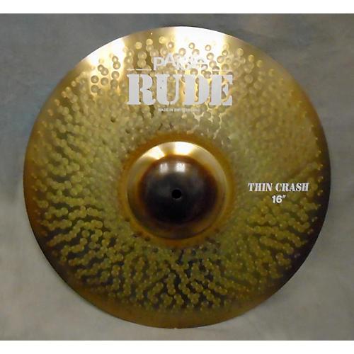Paiste 16in Rude Thin Crash Cymbal