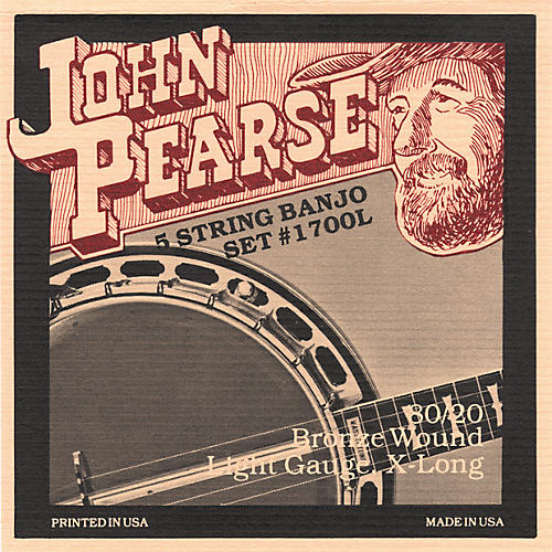 John Pearse 1700L Light Banjo Strings