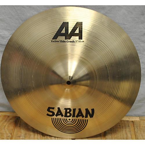 Sabian 17in AA EXTRA THIN CRASH Cymbal