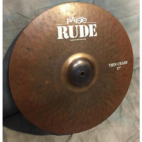 Paiste 17in Rude Thin Crash Cymbal