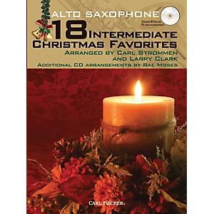 Carl Fischer 18 Intermediate Christmas Favorites - Alto Saxophone Book/CD