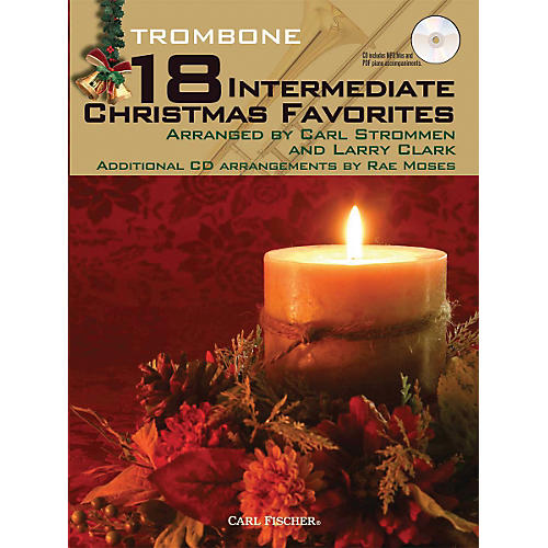 Carl Fischer 18 Intermediate Christmas Favorites - Trombone Book/CD-thumbnail