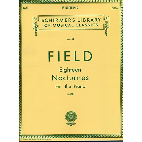 G. Schirmer 18 Nocturnes for The Piano By Field-thumbnail