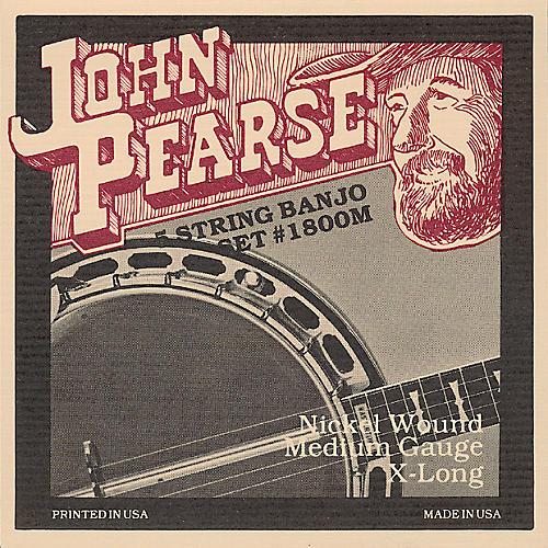 John Pearse 1800M Medium Banjo Strings