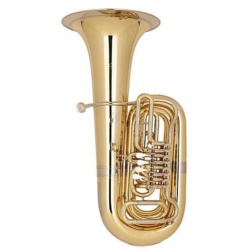Miraphone 186-4U Series 4-Valve 4/4 BBb Tuba 186-4V Yellow Brass 4 Valve Nickel-Silver Slides