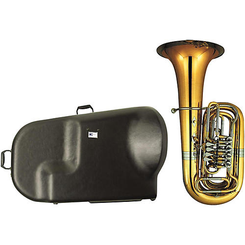 Miraphone 186-4U Series 4-Valve Yellow Brass BBb Tuba with Hard Case-thumbnail