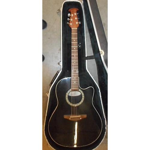 Ovation 1861 STANDARD BALLADEER Black Acoustic Electric Guitar-thumbnail