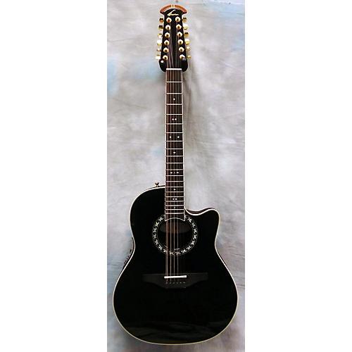 Ovation 1866 Legend Black 12 String Acoustic Electric Guitar