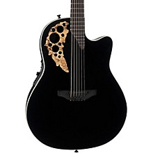 1868TX Elite Spalted Maple Acoustic-Electric Guitar Gloss Black