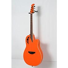 Ovation 1868TX Elite Spalted Maple Acoustic-Electric Guitar Level 2 Gloss Orange 888366028568