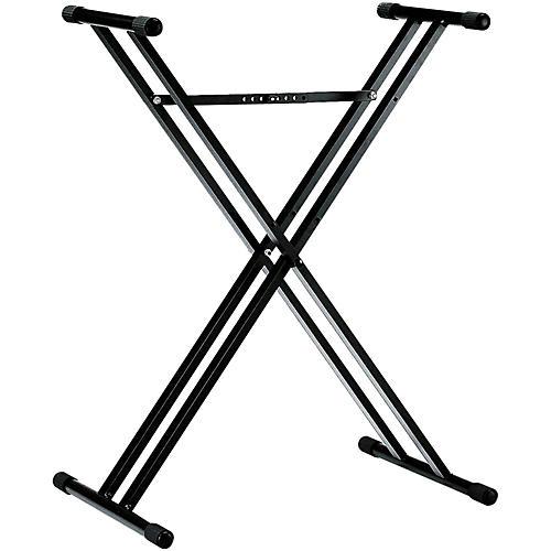 K&M 18963.071.55 X-Style Double Braced Keyboard Stand Black