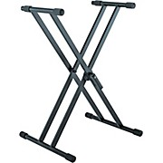 K&M 18990.015.55 X-Style Double Braced Professional Keyboard Stand