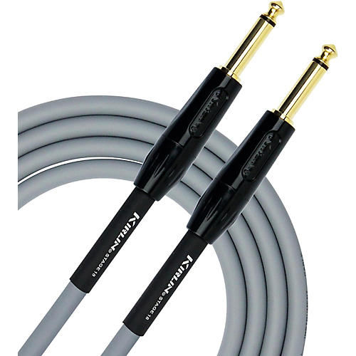 KIRLIN 18AWG Stage Instrument Cable with Gray PVC Jacket