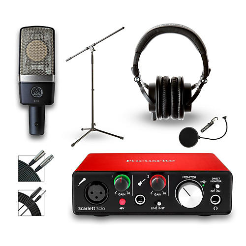 Focusrite 18i18 Recording Bundle With AKG C214 Microphone and Audio Technica ATH-M50x