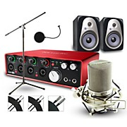 Focusrite 18i18 Recording Bundle with MXL Mic and Sterling Monitors