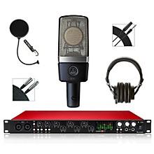 Focusrite 18i20 Recording Bundle with AKG Mic and Audio-Technica Headphones