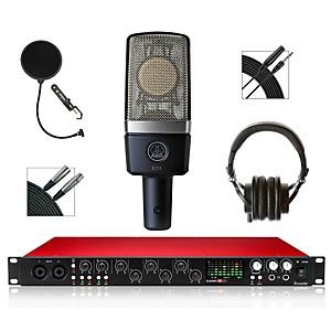 Focusrite 18i20 Recording Bundle with AKG Microphone and Audio-Technica Headphones