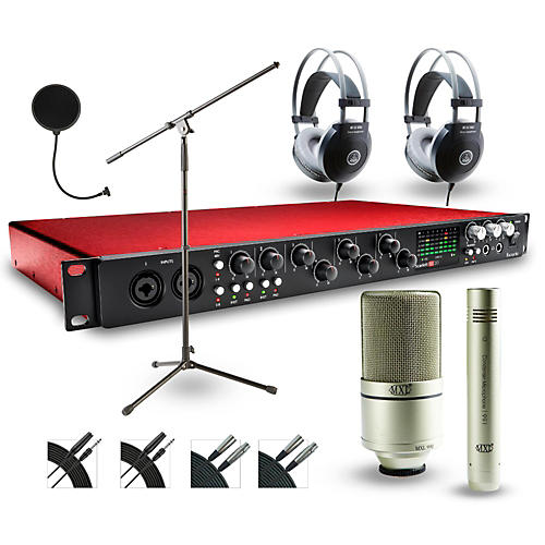 Focusrite 18i20 Recording Bundle with MXL 990-991 Mics and AKG Headphones-thumbnail