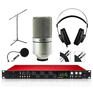 Focusrite 18i20 Recording Bundle with MXL 990 Microphone and AKG Headphones