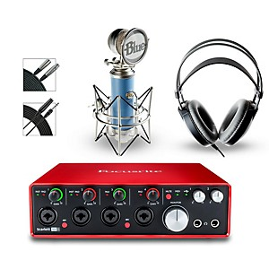 Focusrite 18i8 Recording Bundle with Blue Microphone and AKG Headphones