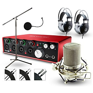 Focusrite 18i8 Recording Bundle with MXL Microphone and AKG Headphones