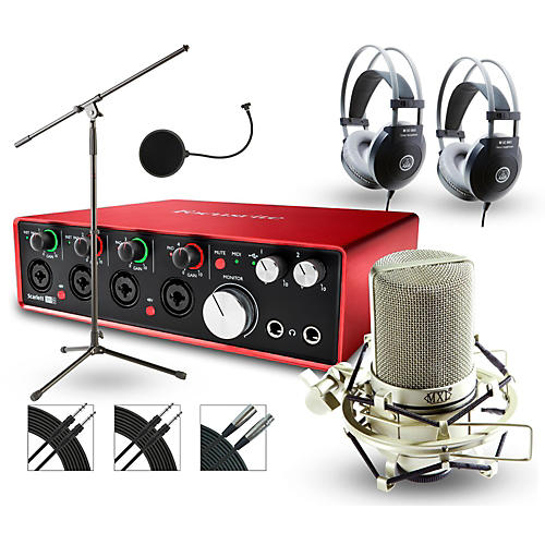 Focusrite 18i8 Recording Bundle with MXL Mic and AKG Headphones-thumbnail