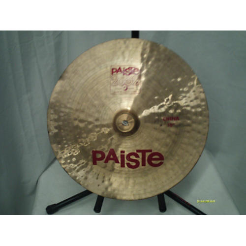 used paiste 18in 2002 china cymbal 38 guitar center. Black Bedroom Furniture Sets. Home Design Ideas