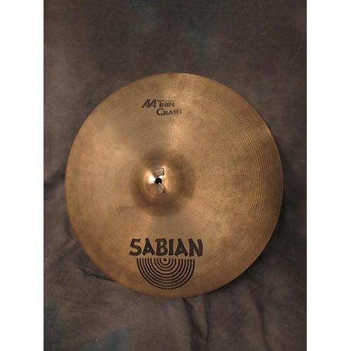 Sabian 18in AA Thin Crash Cymbal