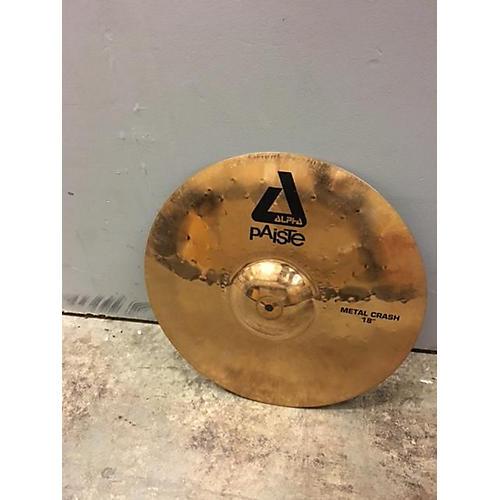 Paiste 18in Alpha Metal Crash Cymbal