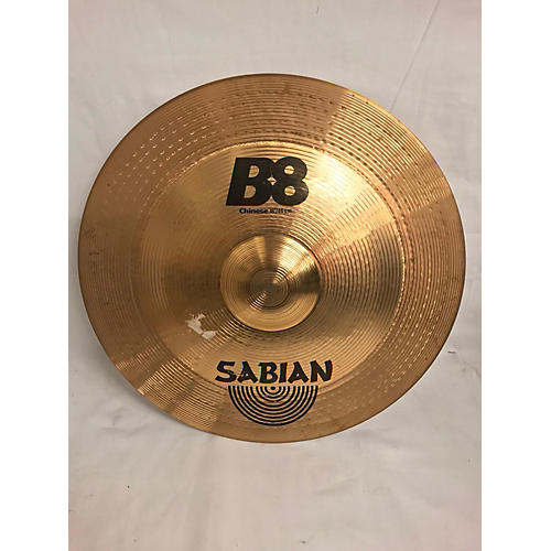 used sabian 18in b8 chinese cymbal 38 guitar center. Black Bedroom Furniture Sets. Home Design Ideas