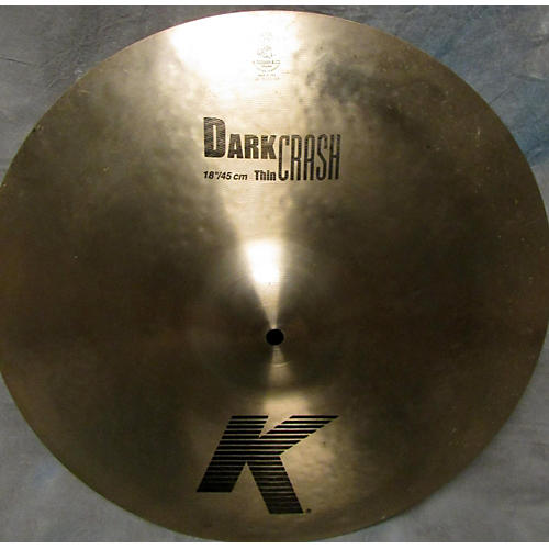 Zildjian 18in K Custom Dark Thin Crash Cymbal